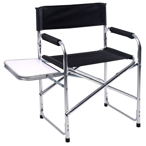 cing chair with side table gym equipment cing aluminum folding chair with side table