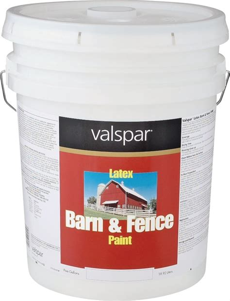 valspar 3121 70 barne and fence paint 5 gal pail 400 sq ft gal white