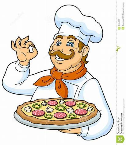Clipart Cook Vector Chef Chief Pizza Cooker