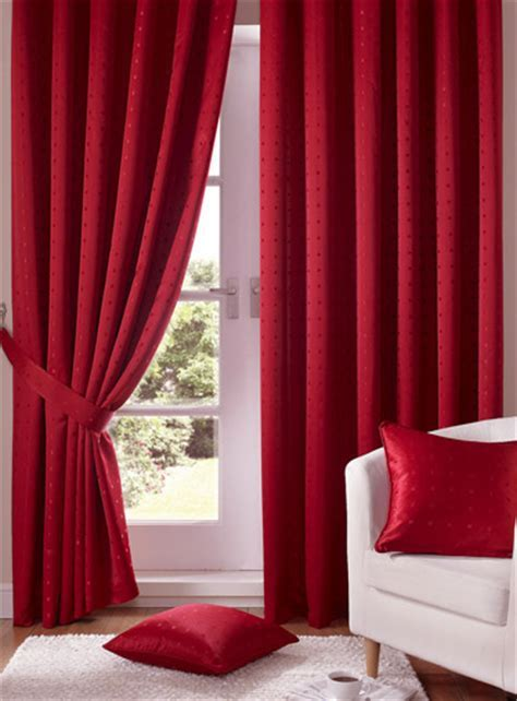 Madison Red Pencil Pleat Curtains   Pencil Pleat Curtains