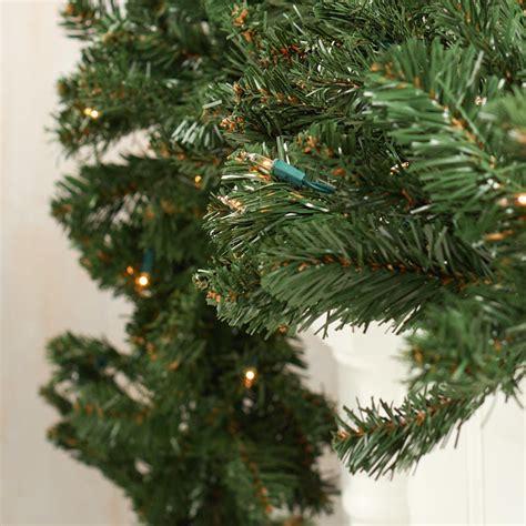 prelit artificial pine garland on sale home decor