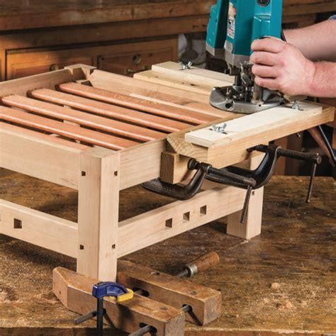 elegant ottoman woodworking plan  woodcraft magazine