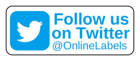 """follow Us On Twitter"" Business Labels  Label Templates"