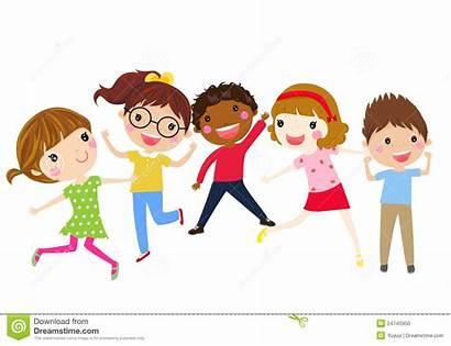 Having Fun Clipart Children Friends Joy Enfants