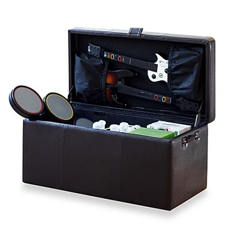 Gaming Ottoman by Gaming Storage Ottoman Brown Bed Bath Beyond