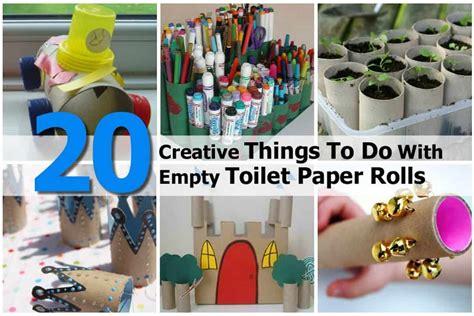 creative     empty toilet paper rolls