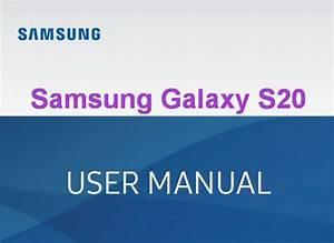 Samsung Galaxy S20 User Manual    Guide Pdf Free Download