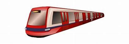 Train Metro Clipart London Clip Transport Drawing
