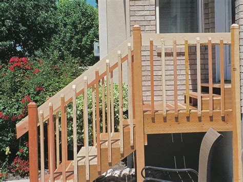 Wooden Handrails For Outdoor Steps - exterior stair railings exterior wooden stairs and
