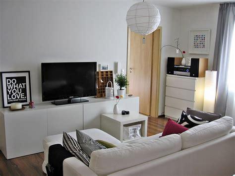white modern living room  ikea besta media storage system minimalist desk design ideas