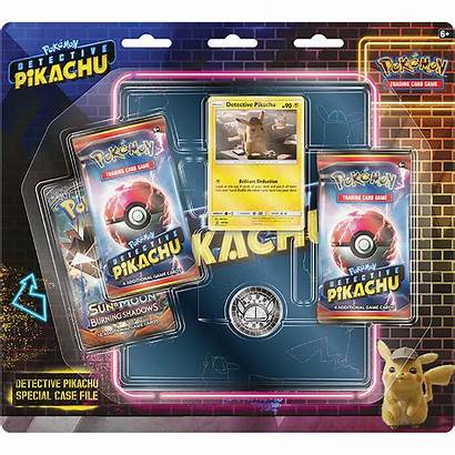 Pokemon Pikachu Detective Tcg Case Cards Trading