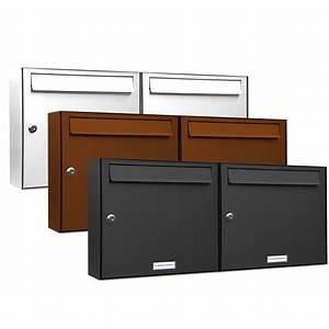 Briefkasten Mit Klingel Aufputz : 2er 2x1 briefkasten anlage aufputz wandmontage ral farbe ebay ~ Sanjose-hotels-ca.com Haus und Dekorationen