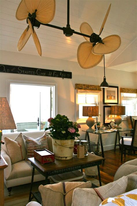 splashy kichler ceiling fans  family room beach style