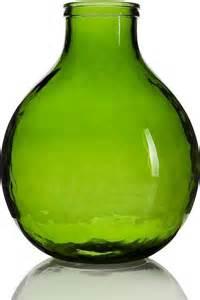 Cambria Lights by Garrafa Green Vase Small Contemporary Vases By