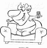 Sofa Couch Cartoon Surfer Coloring Guy Vector Tv Pages Control Drawing Remote Standing Outlined Printable Getcolorings Getdrawings sketch template