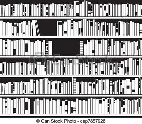 vector illustration  black  white modern bookshelf