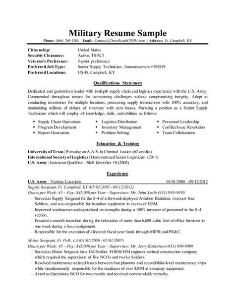 military resume resume examples job resume template resume