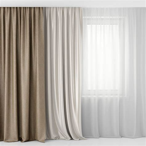 model curtains  tulle cgtrader