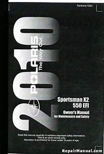 2010 Polaris Sportsman X2 550 Efi Atv Owners Manual