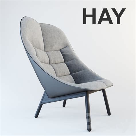 3d models arm chair hay uchiwa lounge chair