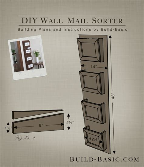 Blind Kitchen Cabinet Organizer by Build A Diy Wall Mail Sorter Build Basic