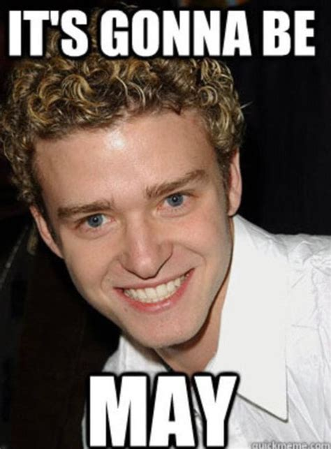Its Gonna Be May Meme - justin timberlake jokes about it s gonna be may meme us weekly