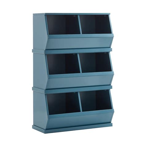 Blue Nantucket Stackable Storage Bin  The Container Store