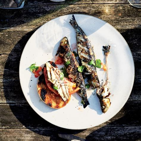 sardines  grilled bread  tomato epicuriouscom