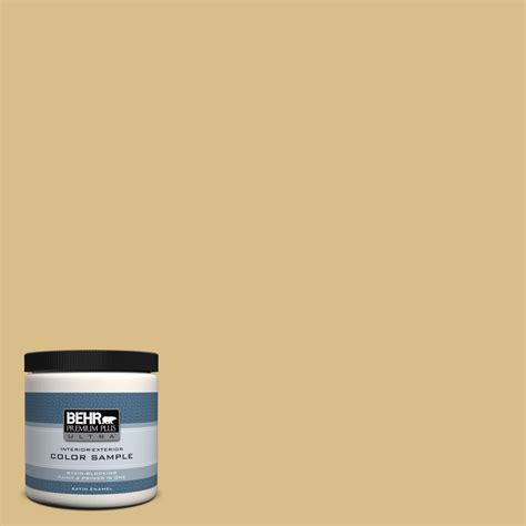 behr premium plus ultra 8 oz mq2 18 honey tea satin