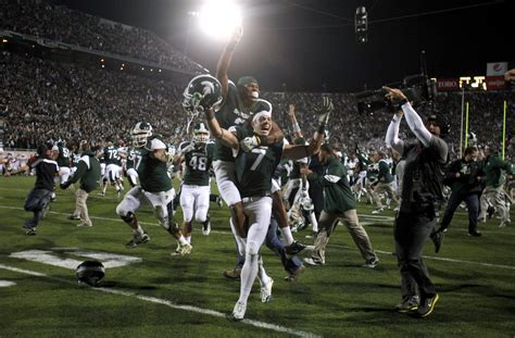 michigan state football announces kickoff times  road