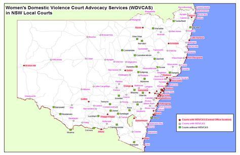 map  wdvcas services legal aid nsw