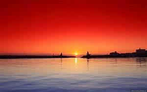 Port Sunset Natural HD Wallpaper