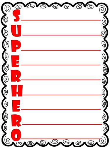 super hero acrostic poem template  zingbadabling
