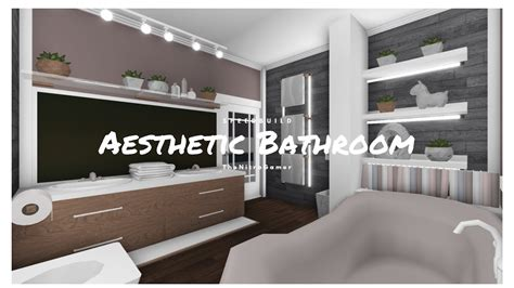 robloxbloxburgaesthetic bathroom speedbuild youtube