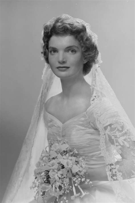 Jacqueline Bouvier Kennedys Wedding Dress And Veil