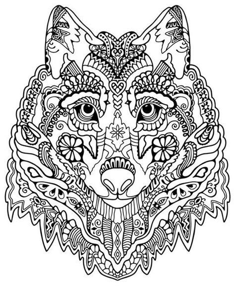 Kostenlose ausmalbilder wolf zum ausdrucken für kinder. Pin auf Erwachsene Ausmalbilder