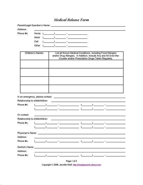 18579 release form for child use this release form to protect your in an