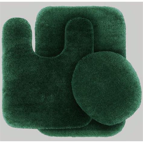 pc hunter green bathroom set bath mat rug contour