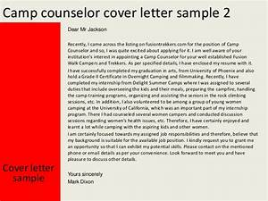 summer camp counselor cover letters camp counselor cover letter