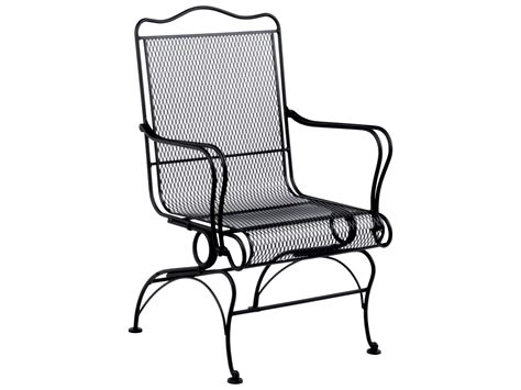 woodard tucson wrought iron high back coil chair