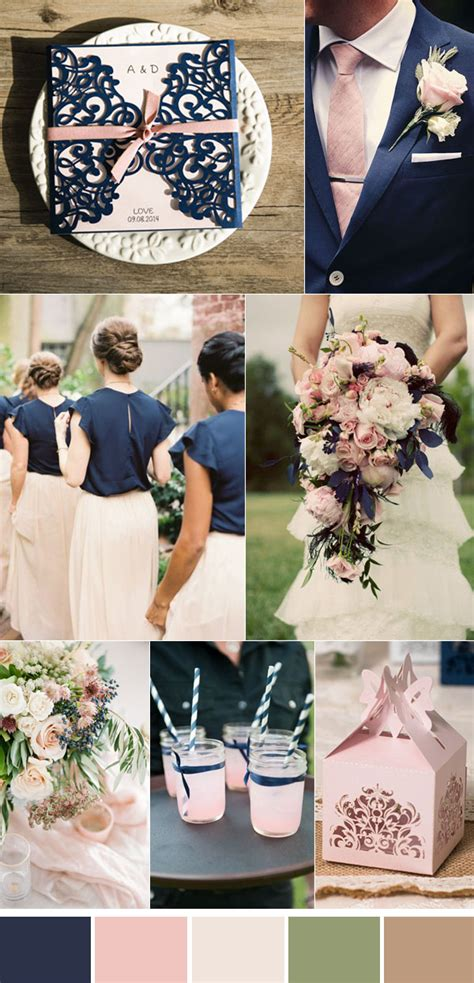 navy blue and pink wedding decorations fabulous wedding colors 2014 wedding trends part 3