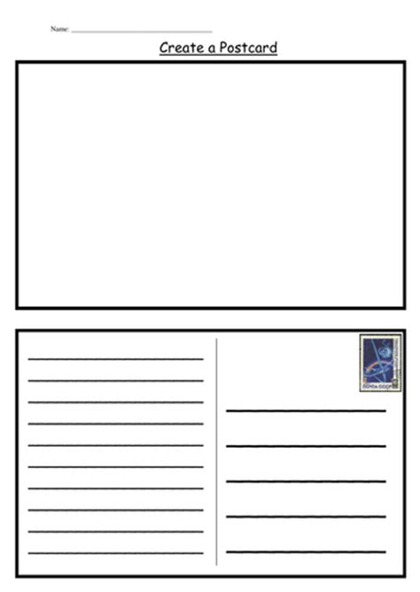 postcard template  kategc teaching resources tes
