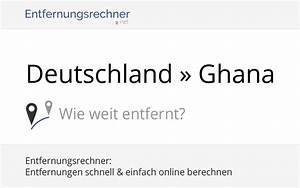 Berlin Hamburg Entfernung : deutschland ghana entfernung distanz strecke kilometer ~ Watch28wear.com Haus und Dekorationen