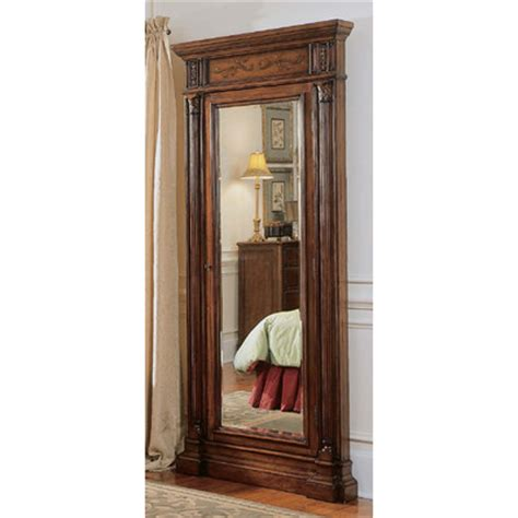 floor mirror jewelry cabinet hooker furniture seven seas jewelry armoire with mirror reviews wayfair