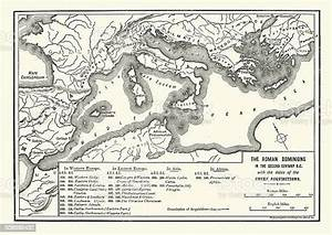 Map, Of, Roman, Dominions, In, The, Second, Century, Bc, Stock
