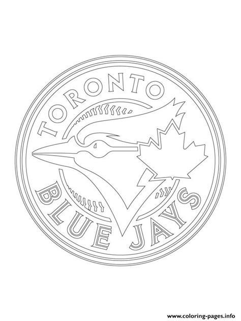 toronto blue jays logo mlb baseball sport coloring pages