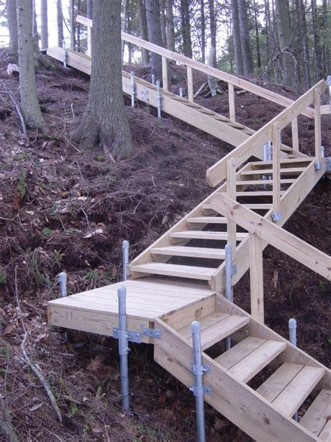 accessories wood frame stairs boat docks