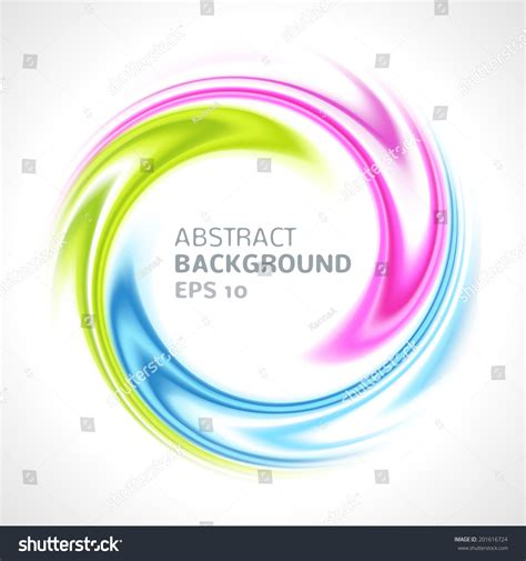 abstract colorful swirl circle bright background stock