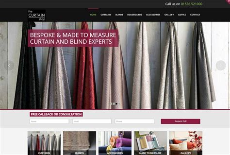 website design seo for the curtain shop in kettering
