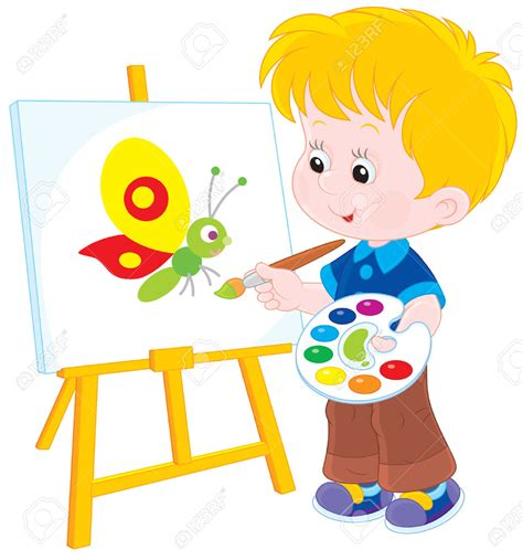 child clipart painter pencil   color child clipart